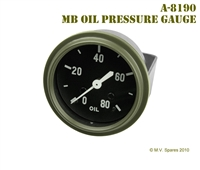 MILITARY WWII JEEP MB GPW GAUGE – OIL PRESSURE – WILLYS MB A-8190